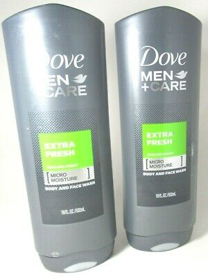 Dove Men Care Extra Fresh Cooling Agent Body And Face Wash 18 Oz 2 Pack 11111062184 Ebay