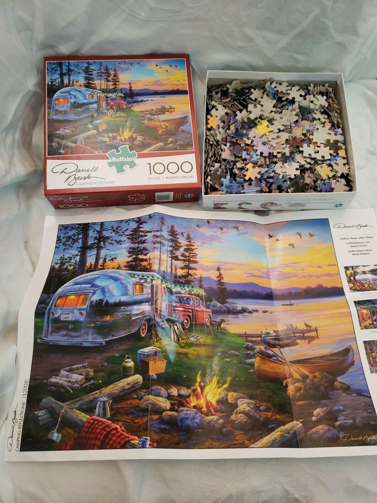 Darrell Bush 1000 Piece Jigsaw Puzzle Camping Reflections Buffalo Games