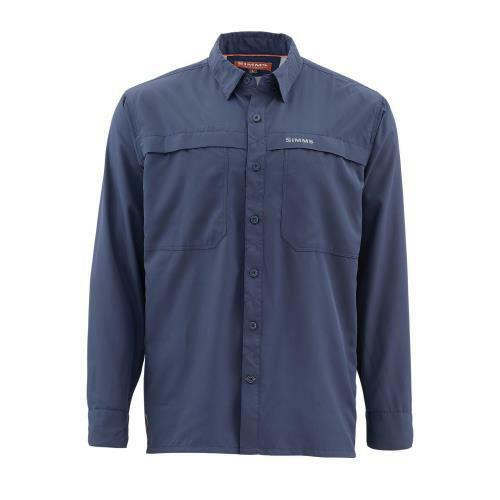 Simms Ebbtide Long Sleeve Shirt  Oxford bluee  Size Medium CLOSEOUT