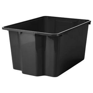 Ikea Gles Box 28x38x20cm Aufbewahrungsbox Stapelbar Boxen Spielzeugkiste Schwarz Ebay