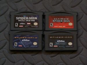 Lot of 4 Nintendo Game Boy Advance GBA Games Spiderman Titles