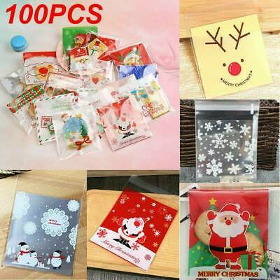 100 Self Adhesive Cellophane Favor Bags Cello Party Sweet Candy Biscuit Gift Bag