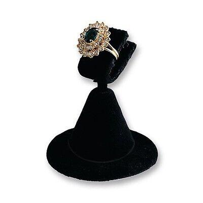 """1 Black Velvet Clip Style Ring Display Stand 2""""Daimeter x 2 3/8""""H"""