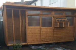 Pigeon loft - 18x6, 3 Section Including Aviary and Sputnik Trap