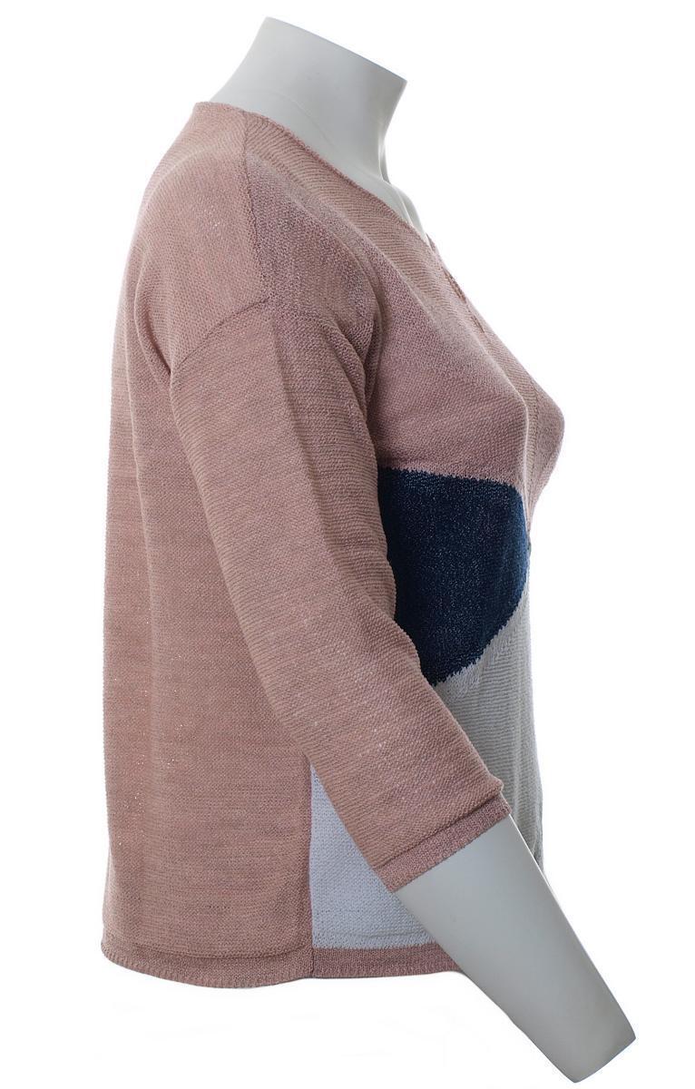 Karin HERTZ Donna Pullover Maglione rosa rosa Antico 3 3 3 4 braccio di grandi dimensioni XL a47a08