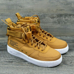 Details about Nike SF Air Force 1 Mid GS 6.5Y Shoes Desert OchreSequoiaWhite AJ0424 700