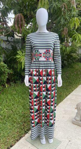 Vintage Lanvin dress Maxi 1970's