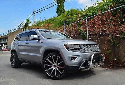 4 Gwg Wheels 22 Inch Black Machined Mod Rims Fit Jeep Grand Cherokee Ebay