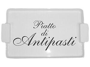 Keramik Antipasti Servierteller hochwertiges Porzellan Gusta Beilagen Servier...