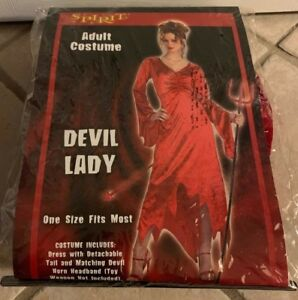 Details About Spirit Halloween Devil Lady Adult Costume One Size Fits Most