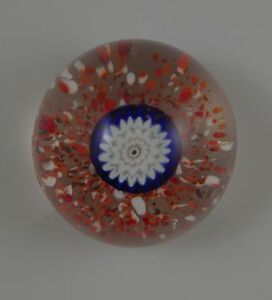 MURANO-GLASS-ITALY-FRATELLI-TOSO-MILLEFIORI-PAPERWEIGHT-ORIGINAL-LABEL