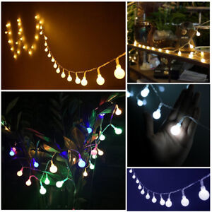 33Ft-10m-Globe-String-Lights-Mains-Powered-100-LED-Fairy-Party-Xmas-Garden-Lamp