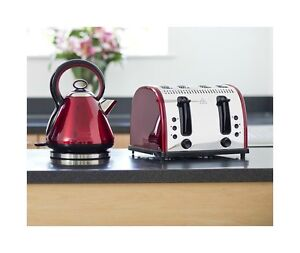 Red legacy kettle and toaster russell hobbs vintage kettle for Tostapane russell hobbs