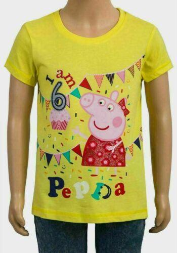 New Girl/'s Peppa Pig Camiseta tengo 1 4 6 años Cumpleaños T-Shirt 5