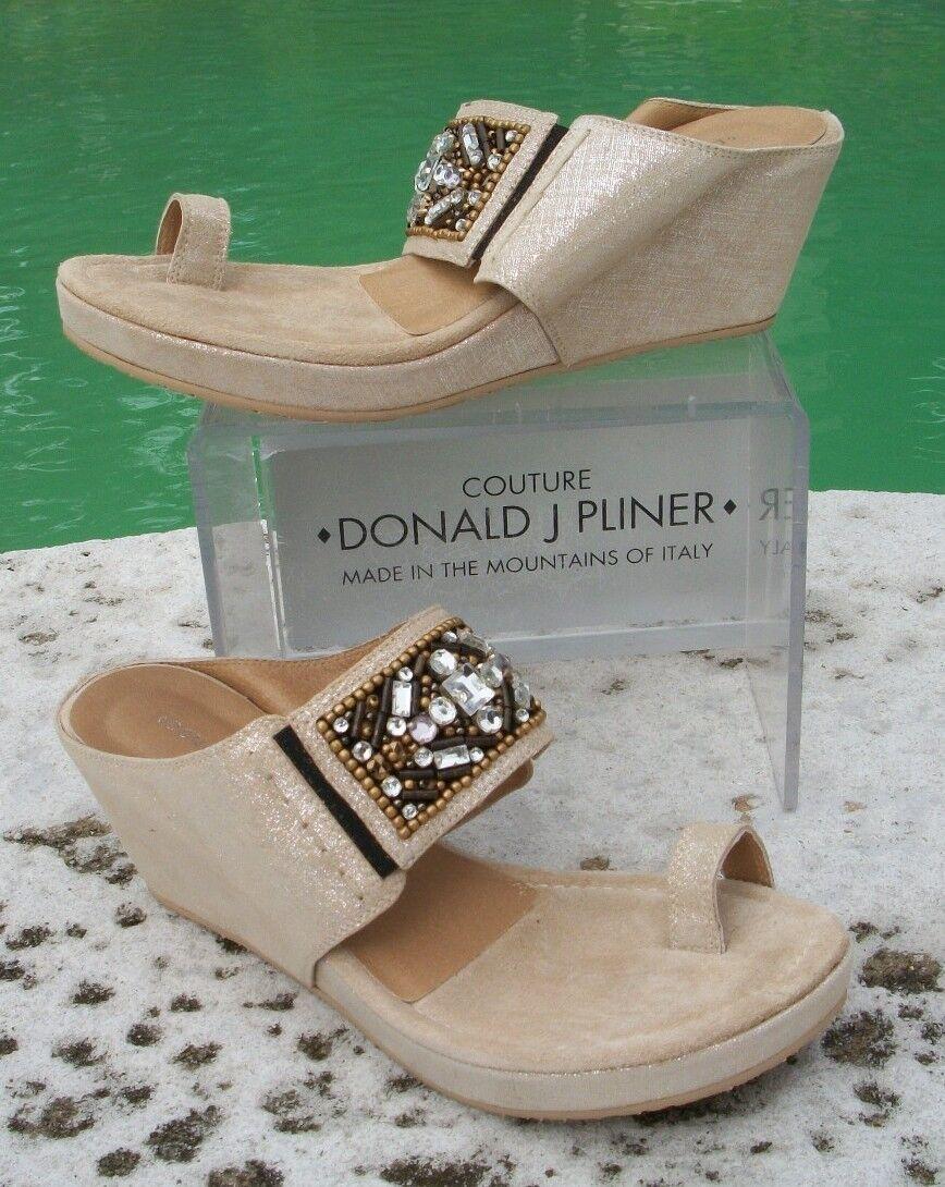 Donald Pliner Pliner Pliner couture crêpe Cuir Chaussure Nouveau Double Wrap sangle de cheville 9  250 New in Box c650a9