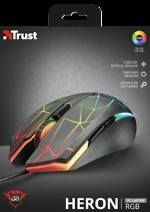 Trust Gaming GXT 170 Heron Mouse Gaming RGB con Sensore Ottico Avanzato da gioco