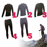 Omni-wool Base Dual Layer Men's Zip Up Top, Crew Top, Bottom / Black & Grey