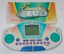 1999 FAMILY FEUD Electronic Handheld Game With Survey Book & Cartridge