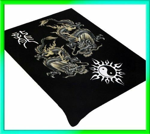 Dragon And Yin Yang Soft Plush Mink Blanket Full Queen Size