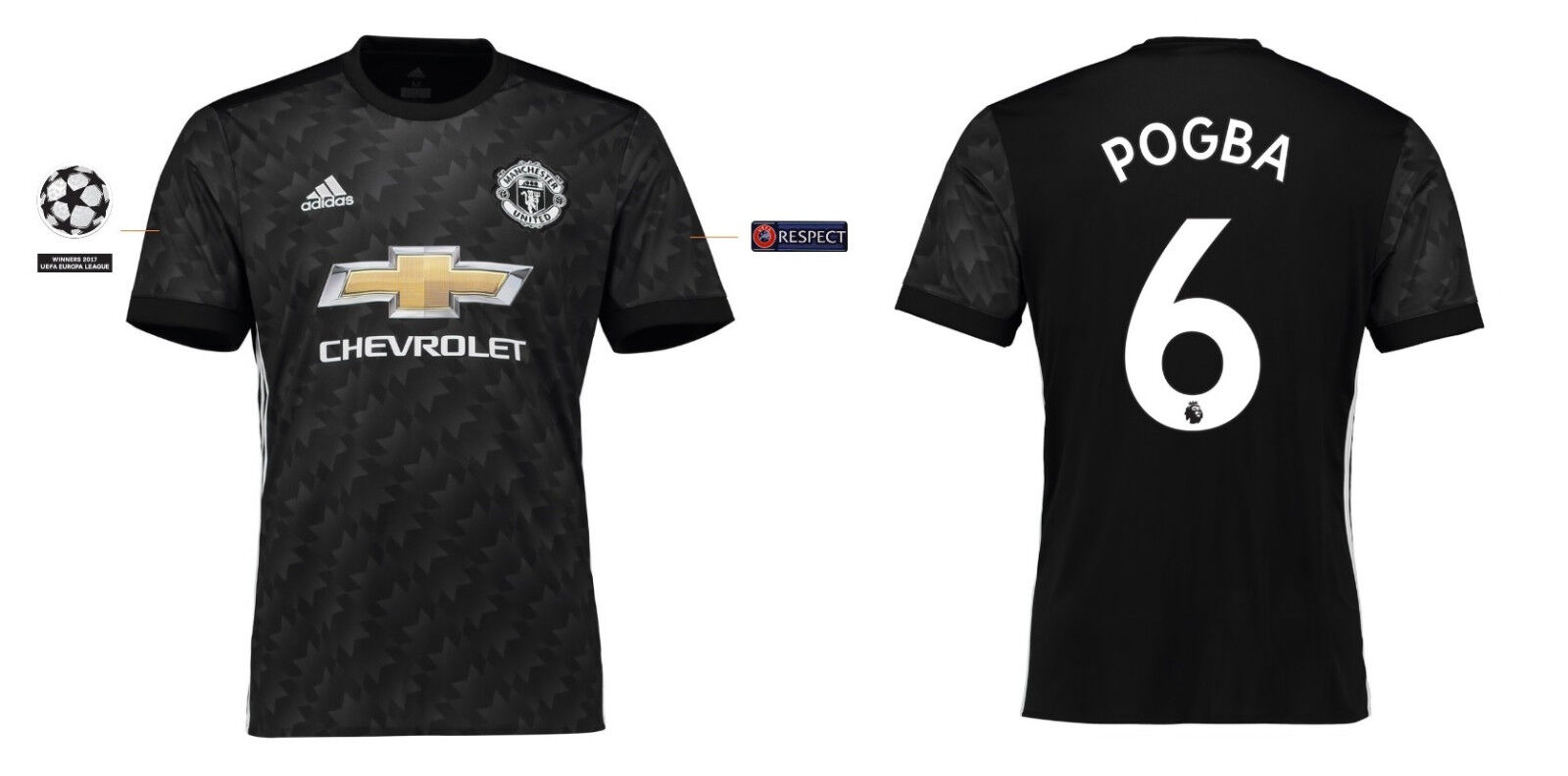 Trikot Manchester United 2017-2018 Away UCL - Pogba 6  ManU