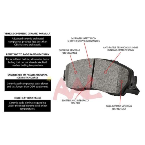 4 pcs AAL Rear BRAKE PADS For 2004 2005 CHEVROLET AVALANCHE 1500