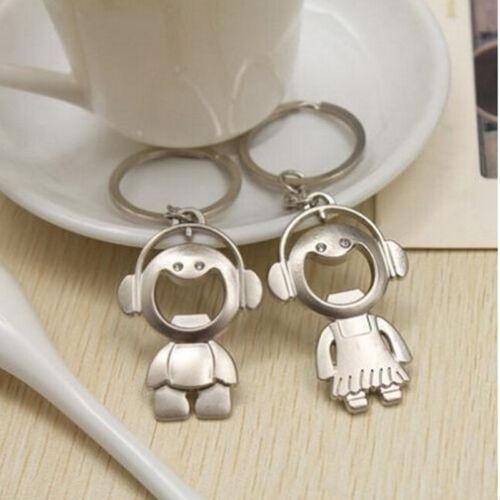 2XCouple Schlüsselanhänger Ring Boy /& Girl Keychain Set Flaschenöffner 1A ST