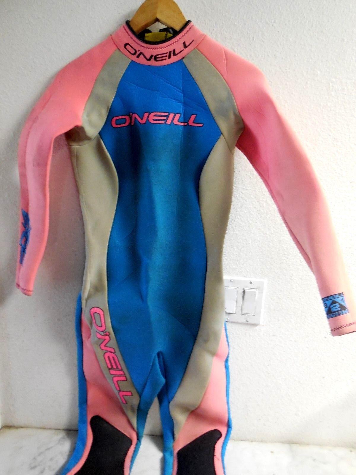 Vintage Retro Oneill The Edge Neon Pink bluee 3  2 Surf Scuba Wetsuit Dive Sz W 10  luxury brand