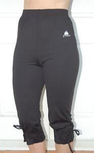 JIVANA Women Yoga Gym Fitness Sport walk 3/4 Capri HIGH WAIST pants Black S M