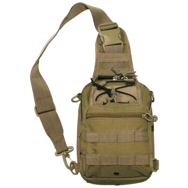 ba5f10ac1d ÉPAULE DE COMBAT TACTIQUE MILITAIRE CROSS BODY BAG MOLLE VOYAGE CAMPING  COYOTE T