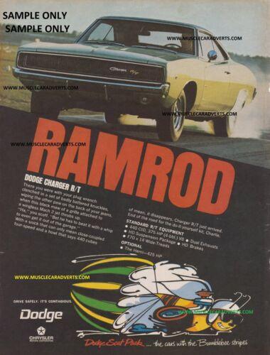 1969 DODGE CHARGER A3 ADVERTISEMENT POSTERS SALES ADVERT MOPAR HEMI WALL ART