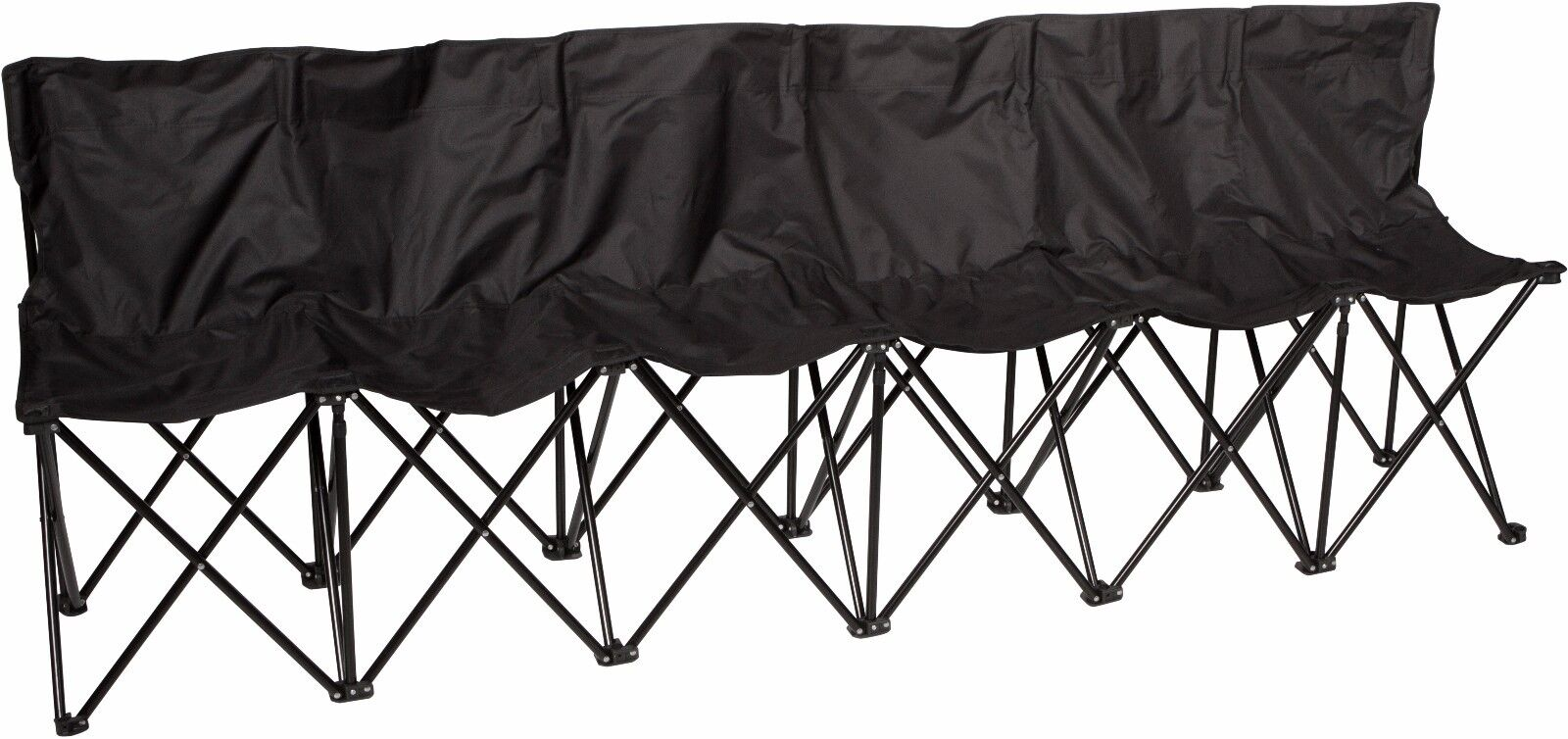 Folding Sports 6 Seater Sideline Bench By Trademark Innovations