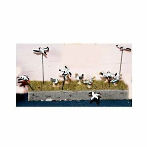12-Assorted-Seagulls-OO-HO-Scale-Unpainted-Langley-F143