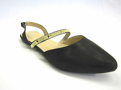 f80053- Mujer Sabana Sintético TIRA TRASERA Zapatos con detalle de pinchos 3