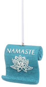 NAMASTE Lotus Flower YOGA MAT Christmas Ornament by Midwest CBK