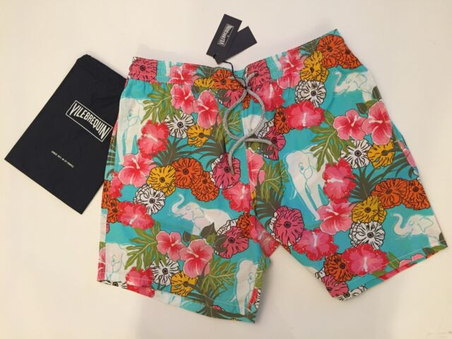 a8f215c9c0 New w Tags & Bag Authentic Vilebrequin Moorea Multicolor Swim Trunks - Men  XL