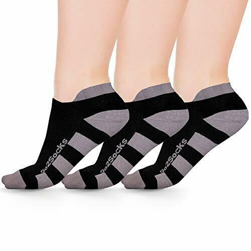 Go2 Low Compression Running Socks Anti-Blister Breathable Moisture Wick 3pack