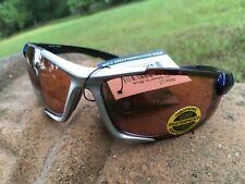 0dcdd527bf Maxx HD Sunglasses Blitz Silver Blue Golf Fishing Brown Lens LT A1 ...