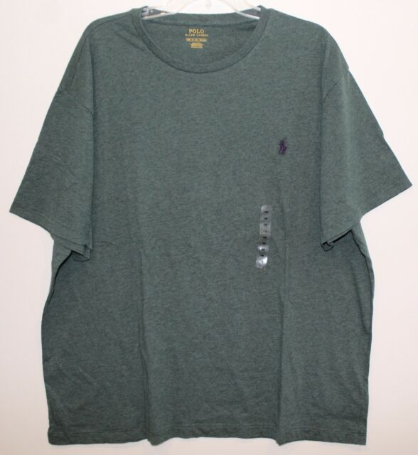 Polo Ralph Lauren Big and Tall Mens 1XB Heather Green Crewneck T-Shirt NWT 1XB