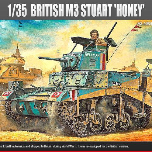 Academy Plastic Model Kit 1 35 British M3 Stuart 'HONEY' Tank 13270