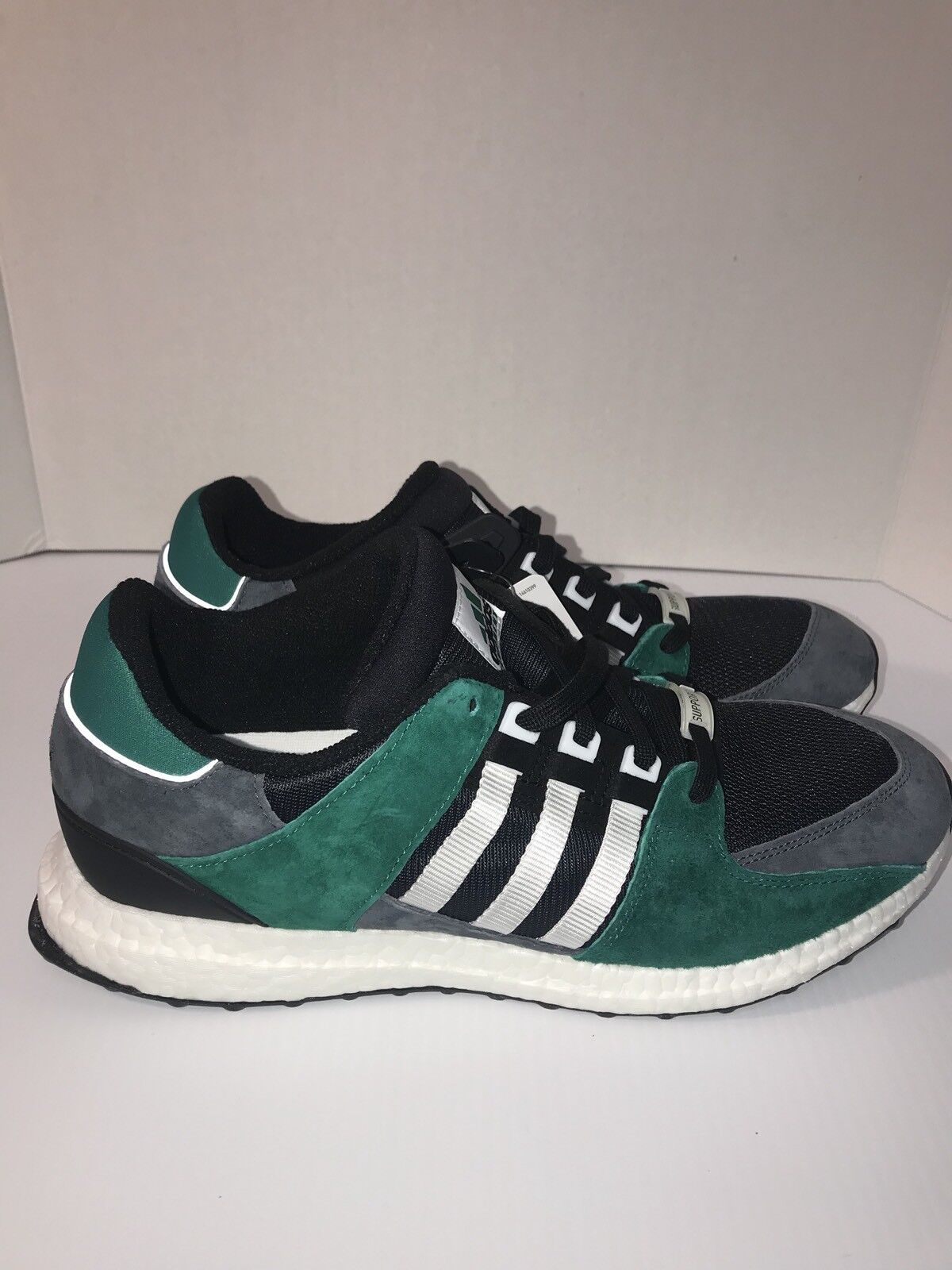 Men's Adidas EQT Support 93/16 Boost Green Black White Grey Comfortable