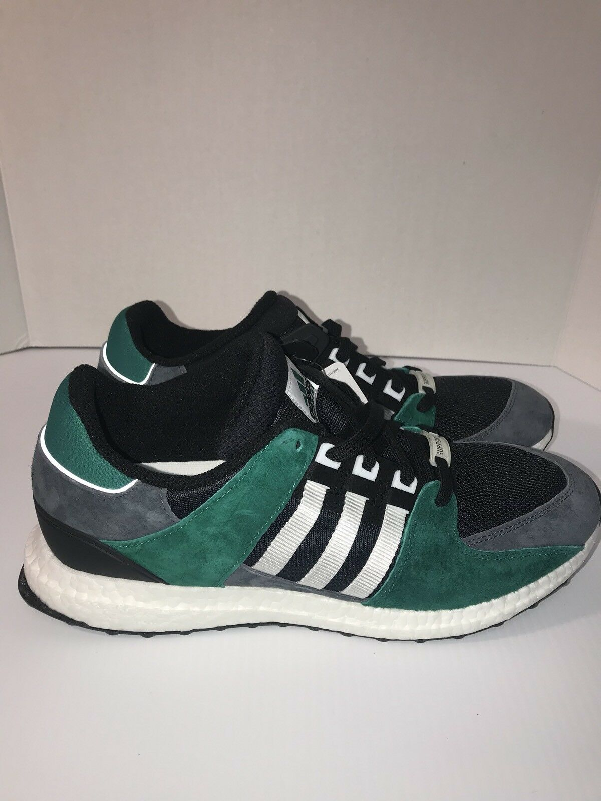 Men's Adidas EQT Support 93 16 Boost Green Black White Grey Size 13 S79923