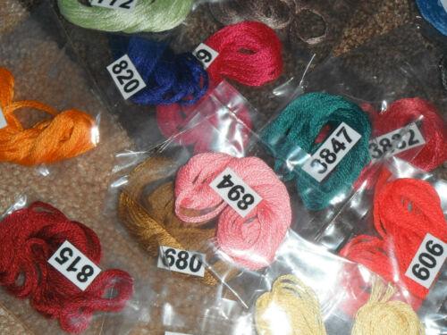 2 Mètres Chacun 30 DMC Threads Pick UR propres couleurs