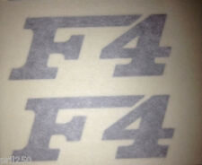 MV Agusta F4 Silver Vinyl Decal Stickers (10cm x 4cm) (PAIR)