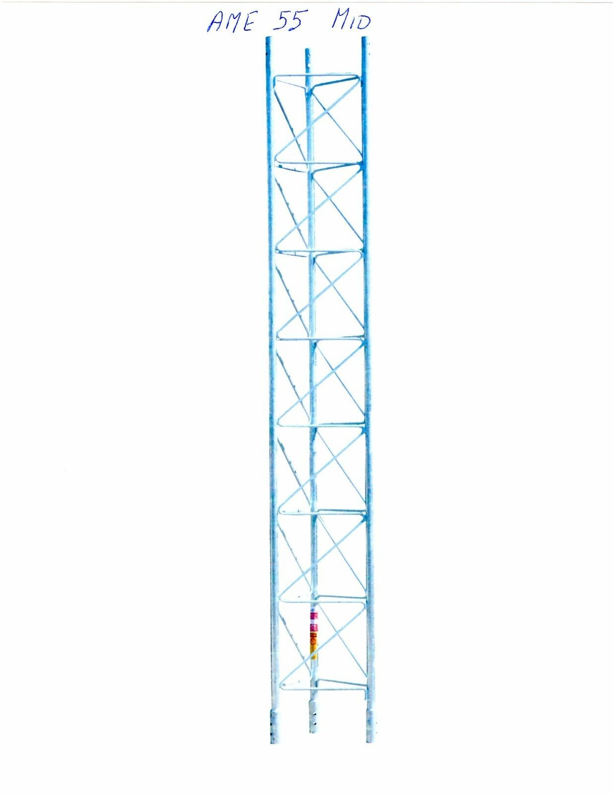 AMERICAN TOWER, ROHN TOWER STYLE-AME 55G -10' SECTION, Meets EIA/TIA Spec, OEM . Buy it now for 387.37