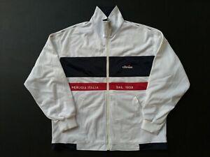 Vintage ellese big spell out logo fleece hoodie sweatshirt zipper uo