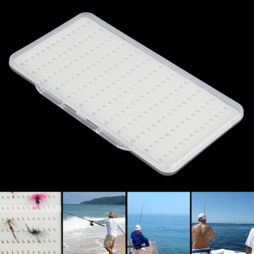 Fly Fishing Box Waterproof Fishing Lure Case Transparent Tackle 77//104//168 Holes