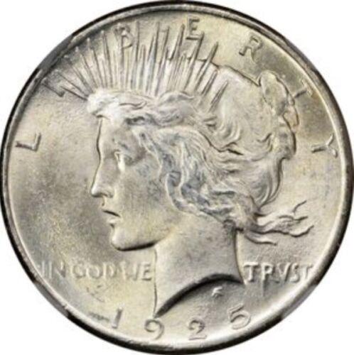BU 1925 Peace Silver Dollar Brilliant Uncirculated