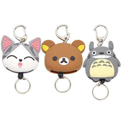 Key Chain Retractable Totoro Key Ring Keyfob Girl Lovely Reel Cartoon Anime