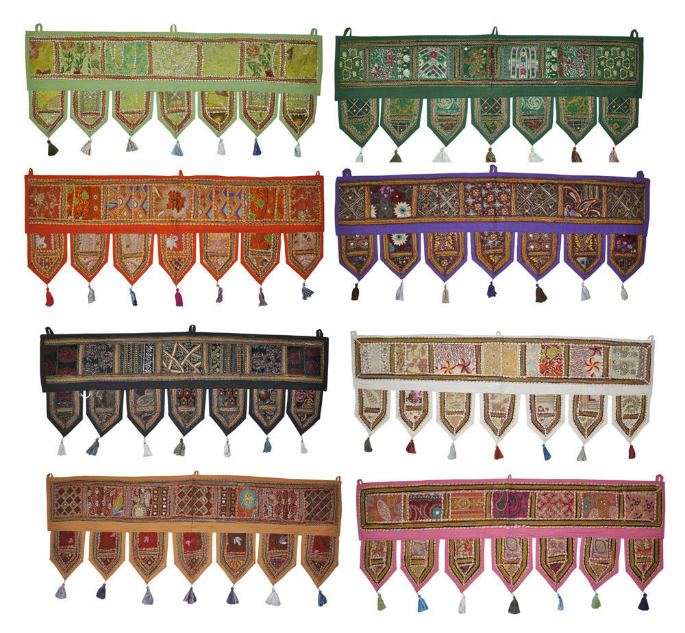 10 PC Wholesale Lot Indian Door & Window Curtains Door Hanging Blinds Decor Hang