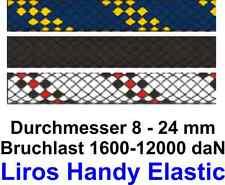 m//1,10€ 8 mm Bruchlast : 1600 daN Festmacher  schwarz Liros Handy Elastic